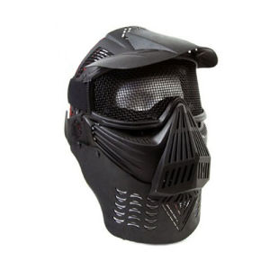 Full Face Airsoft Goggle Mesh Mask with Neck Protect pictures & photos