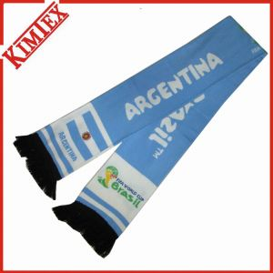 Fashion Jacquard Fans Rally Football Scarf with Spandex pictures & photos