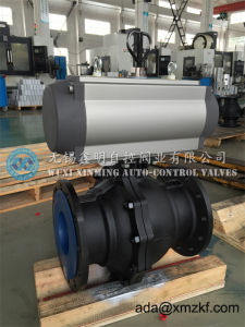Pneumatic Actuator Wcb Ball Valve with Flange Port pictures & photos