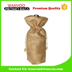 Ribbon Drawstring Single Wine Bottle Bag Screen Print pictures & photos