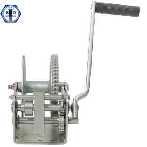 2500lbs Hand Winch with Removable Handle