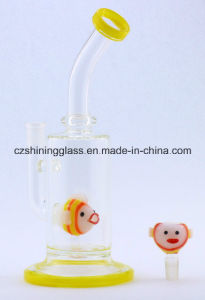 Colorful Glass Smoking Water Pipe with Carp Fish Bowl Glass Water Pipes pictures & photos