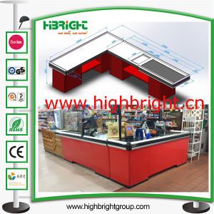 Custom Made Supermarket Store Retail Cash Register Counter pictures & photos
