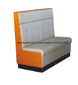Leather Wood Sofa Loveseat for Bars, coffee Shop, Restuarant pictures & photos