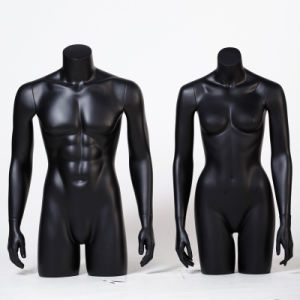Matte Black Half Body Male Mannequin for Sale pictures & photos
