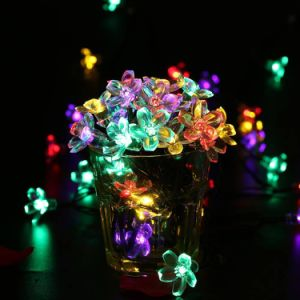 Factory Price Christmas Tree Decoration Flower Shape LED Light pictures & photos