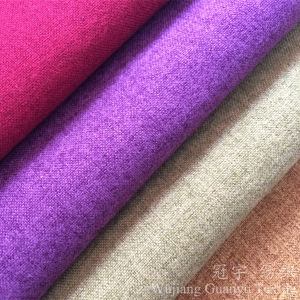 Linen-Like Home Textile Fabric 100% Polyester Yarn for Sofa pictures & photos
