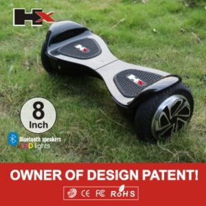 Patented 8inch 2 Wheels Balance Scooter Self Balancing Hover Board Electric Unicycle Smart Balance Wheel with LED Light pictures & photos