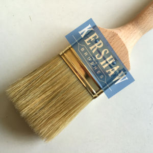 Paint Brush (paintbrush, white bristle flat brush with beech wood handle) pictures & photos