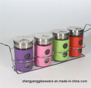 Hot Sell 4PCS Set Spice Bottle with Stand pictures & photos