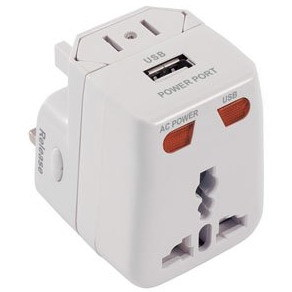 Universal Travel Adaptors with USB Charger