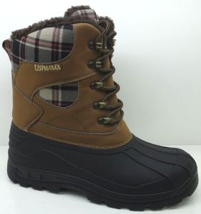 Fashion Fabric Snow Boots / Injection Shoes in High Quality (SNOW-190023) pictures & photos