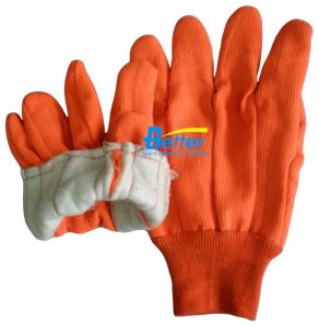 Double Layer Cotton Fabric Garden Work Glove (BGGW006)