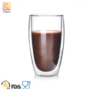 450ml Double-Wall Glass Cup (XLSC-001 450ml) pictures & photos