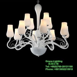 High Quality Modern Glass Chandelier (GD-1011-8+4) pictures & photos
