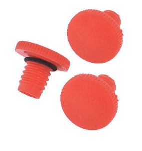Red Plastic 11mm Male Thread Air Compressor Component Oil Plug pictures & photos