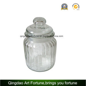 Ribbled Glass Filled Jar Candle with Various Scents pictures & photos