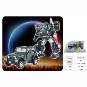 Military War Plastic Model Deformation Robot Jeep Toy