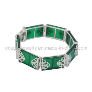 Elegant 925 Sterling Silver Gemstone Bracelet (B010656)