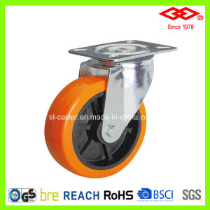 "4"" Swivel Plate PU Industrial Castor Wheel (P101-36D100X34) pictures & photos"