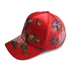 Printing Flower Pattern 6 Panel Customized Cheap Baseball Cap (GKA01-D00095) pictures & photos