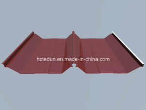 Prepainted Steel Standing Seam Roofing (red brown8012) pictures & photos