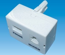 Network Connector Socket Phone Plug ADSL Pots Spliter (P-027) pictures & photos