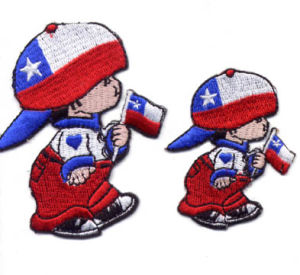 Flag Cartoon Embroidery Badge for Vourious Country pictures & photos