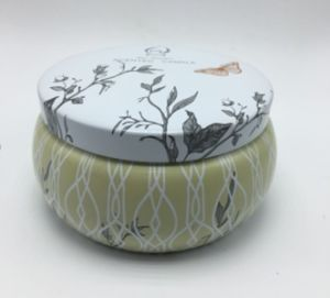 Eco Friendly New Designed Printing Tin Jar Scented Candle pictures & photos