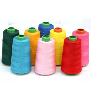 China Wholesale 100% Polyester Spun Yarn pictures & photos