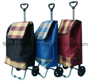 Foldaway Funky Microfiber Material 2 Wheeled Shopping Trolley pictures & photos