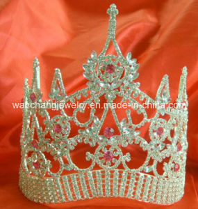 Rhinestone Pageant Beauty Tiara, Pagenat Crown H-38074, Holiday Tiara