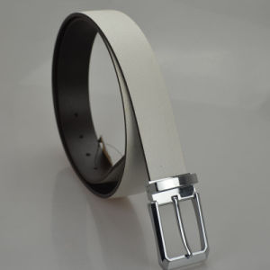 New Style Skinny Men′s Pure Leather Belt (LB-11) pictures & photos