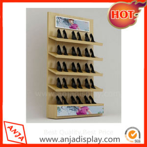 Wooden Shoe Display Shelf