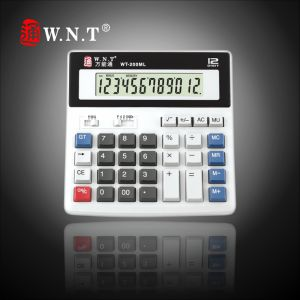 12 Digits Dual Power Desktop Calculator with Solar Power (WT-200ML)