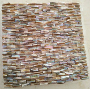 Natural Brown Color Mother of Pearl Shell Mosaic Tile (HMP78) pictures & photos