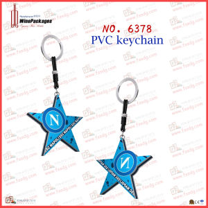 Five-Star Shaped PVC Metal Key Chain (6378) pictures & photos