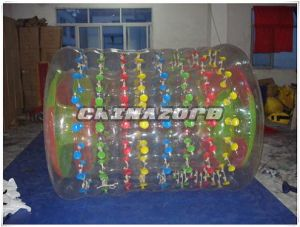 Summer Hot Sale Colorful Dots Inflatable Water Roller