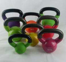 PVC Coated Kettlebell with Rubber Pad pictures & photos