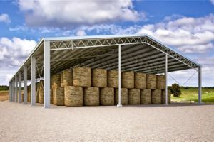 Galvanized Prefabricated Light Steel Structure Hay Warehouse Shed (KXD-SSW57) pictures & photos