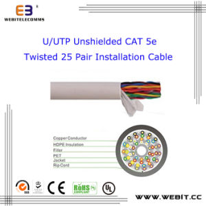 U/UTP Unshielded Cat 5e Twisted 25 Pair Installation Cable pictures & photos