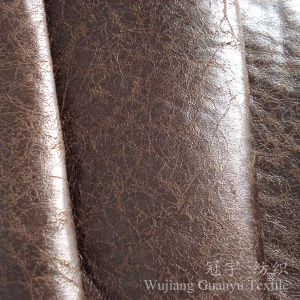 Compound Leather Polyester Cloth Suedette Fabric for Sofa pictures & photos