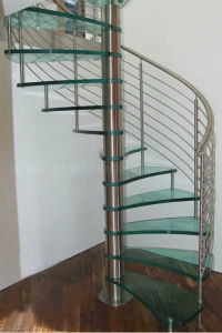 Best Price Stainless Steel Glass Spiral Staircase Home Design Ideas pictures & photos