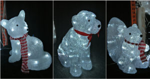 Acrylic Christmas Light with LED pictures & photos
