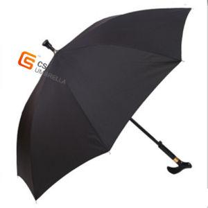 Antiskid/Walking Stick/Fiberglass Ribs Stright Umbrella for Old Man Umbrella (YS-1014A)