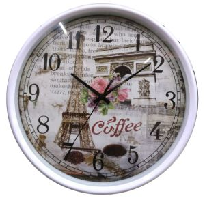 12 Inch Home Decoration Plastic Home Goods Wall Clock, Round Plastic Wall Clock (LZ007) pictures & photos