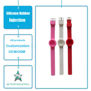 Customized Silicone Rubber Injection Mould Products Promotional Gifts Silicone Watchband pictures & photos