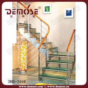 Toughed Glass Treads Staircase (DMS-3008)
