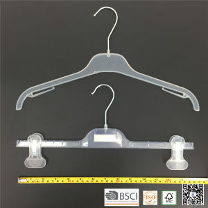 Simple Basic Plastic Teens Clothes Shirt Hanger pictures & photos