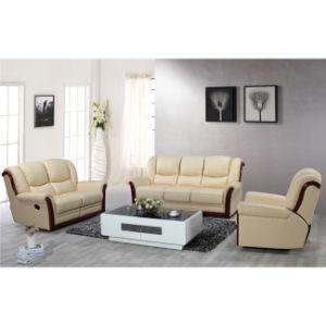 Wood Trim Leather Recliner Sofa Set Mz002 pictures & photos